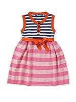 nyani Vestido Susa Stripe (Blanco / Naranja)