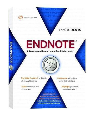 Thomson Reuters EndNote Student version for Mac V5