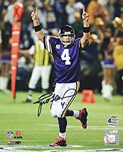 Autographed Favre Picture - Authentic Vikings 8x10 W Hologram & Coa - Autographed NFL Photos