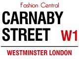 CARNABY STREET FASHION CENTRAL W1 LONDON STREET SIGN METAL STEEL ADVERTISING WALL SIGN