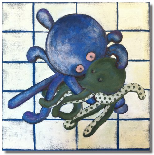 "Oakley the Octopus - 18"" X 18"" Canvas Wall Art"