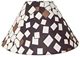 "10"" Round Brown Checks Designer Lamp Shade for Table Lamp"