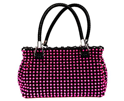Women Handmade Beaded Bag Satchel Large 100% Handmade,clutch Evening Black Satchel Beads