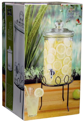 VMI G-01835 Tower Jar with Metal Stand, 5-Liter