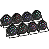 VEVOR Par LED Stage Light 8 PCS Par Lights 18X3W Stage Lighting for Club DJ Show Disco Party DMX-512 Controller (8PCS)