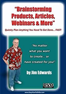 """Brainstorming Products; Articles; Webinars & More... Quickly Plan Anything You Need To Get Done... FAST!"""