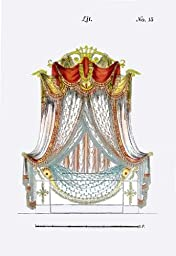 French Empire Bed No. 15 24x36 Giclee