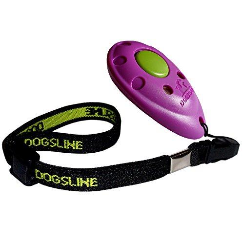 Bild von: Dogsline Profi Clicker mit elastischer Handschlaufe für Clickertraining , lila , DL02PA
