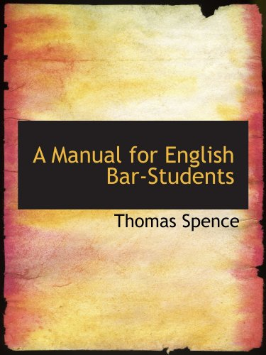 A Manual for English Bar-Students
