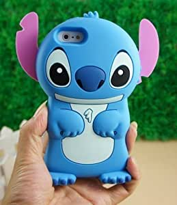 Disney 3d Stitch Movable Ear Flip Silicone Case Cover for Iphone 4/4s Xmas gift