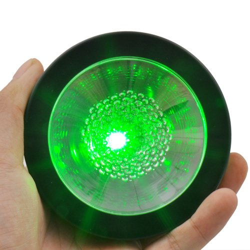 LED Coaster, Black with Color Changing LED Lights
