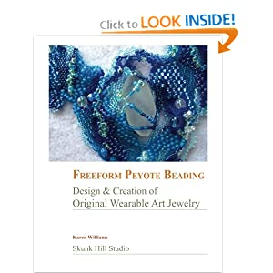 Book cover, Freeform Peyote Beading