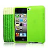 4G Touch Green Silicone Protective Armour Case Cover & Screen Protector Kit for New Apple iPod Touch 4th Generation - 8GB 32GB 64GB ~ Easyi
