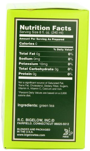Bigelow Green Tea, 40-Count Boxes (Pack of 6) - Fitness And Health