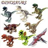 I-STYLE レゴ 互換 ジュラシック ワールド 恐竜 8体セット