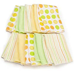 Spasilk 10 pack Soft Terry Washcloth, Yellow