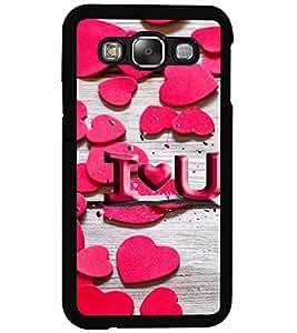 ColourCraft Love Pattern Design Back Case Cover for SAMSUNG GALAXY E5