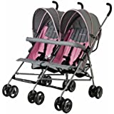 Dream On Me Twin Stroller, Pink