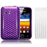 SAMSUNG GALAXY Y S5360 PURPLE TPU GEL SKIN / CASE / COVER + 6-IN-1 SCREEN PROTECTOR PACK PART OF THE QUBITS ACCESSORIES RANGE