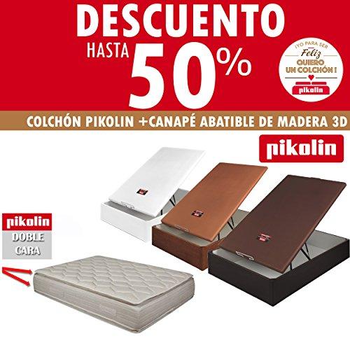 colchon-pikolin-pillow-top-doble-cara-33cm-canape-pikolin-abatible-de-madera-3d-transpirable-al-suel