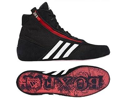 ADIDAS Adult Box Fit 2 Chaussures de boxe, Noir/Blanc/Rouge, 44 2/3