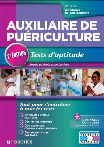 Auxiliaire de puériculture Tests d'aptitude 2e édition (Concours Paramédical)