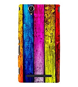WOODEN LINES PATTERN PIC 3D Hard Polycarbonate Designer Back Case Cover for Sony Xperia T2 Ultra :: Sony Xperia T2 Ultra Dual