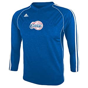 NBA Los Angeles Clippers Youth 8-20 Long Sleeve On-Court T-Shirt, Blue by adidas