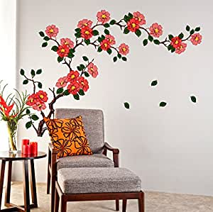 Buy decals design 39 floral branch antique flowers 39 wall for Wallpaper for bedroom amazon