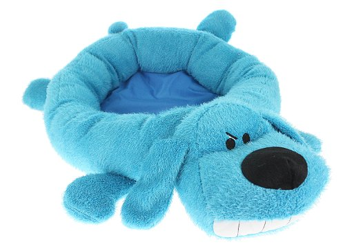 Multipet's 24-Inch Round Loofa Dog Bed, Blue