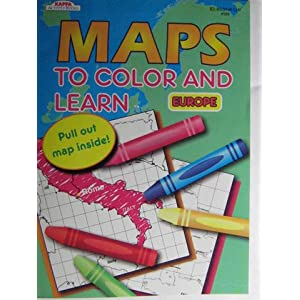 Maps to Color and Learn - Europe