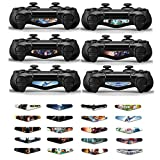 GOOOD Light Bar Decal Stickers Set of 20 Different Pcs for PS4 Playstation 4 Controller - Color Prints Game Theme Mix Stickers