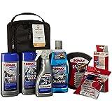 SONAX 761541 AutopflegeSet mit Tasche, 6 Teile