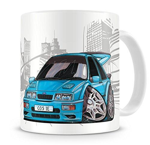 koolart-cartoon-caricature-of-ford-sierra-cosworth-rs-500-blue-coffee-mug