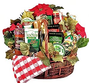 Deluxe italian food gift basket for the whole for How to make christmas food baskets