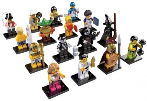 Lego Minifigure 8684 Series 2 - Complete Set Of 16