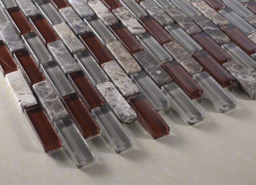 vetro marmi mosaic tiles 1 2 x 2 grey red glass tile