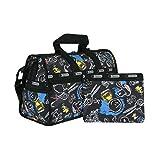 (レスポートサック) LeSportsac ミディアムウィークエンダ― ショルダーバッグ (チョークボードスヌーピー) ブラック ピーナッツコラボ PEANUTS 7184 G057 Medium Weekender Chalkboard Snoopy [並行輸入品]