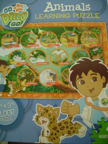 "Cheap Go Diego Go Go Diego Go ""Animals"" 2′ X 3′ 48 Piece Floor Puzzle (B000RH0I80)"