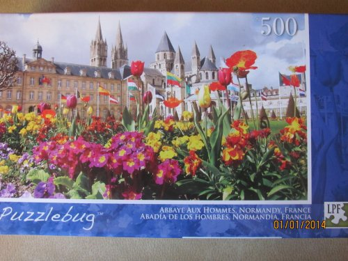 Abbaye Aux Hommes Normandy France 500 Piece Puzzle by LPF