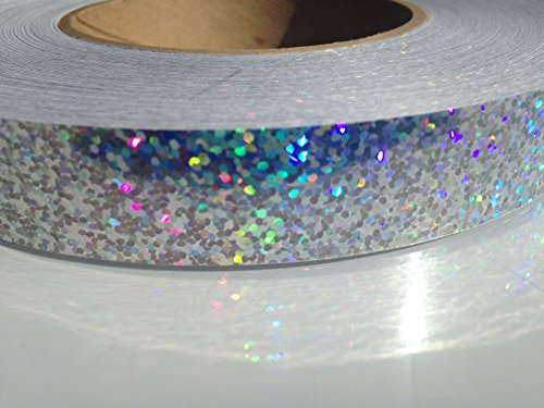 """30 ft. roll of 3/4"""" Disco Sequin SILVER Hula Hoop Tape"""