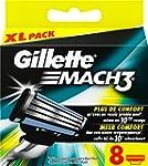 Gillette Mach3 Lames de Rasoir pour H...