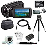 Sony Handycam HDR-PJ670 Wi-Fi 1080p HD Video Camera Camcorder with Projector + Sony 32GB Micro SDHC Memory Card, Camera System Case, Additional Battery and Accessories
