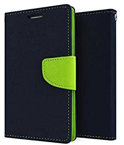 VIMI Mercury Flip Cover For Samsung Galaxy Core Prime G360-Blue/Green
