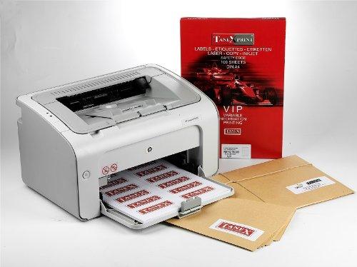 TANEX TW - 2321 étiquettes universelles Blanc 52,5 x 21,2 mm -Rectangular pg. A4-Lot de 10