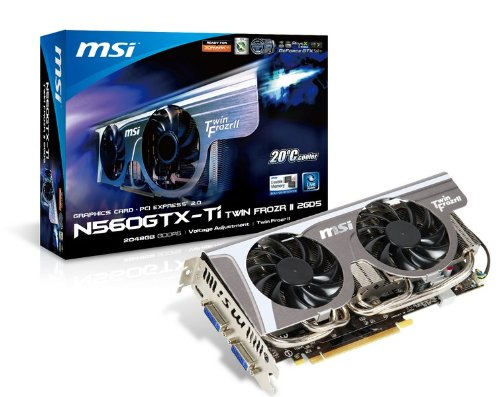 MSI GeForce GTX560 Ti 1 GB DDR5 2DVI/Mini HDMI PCI-Express Video Card N560GTX TI TWIN FROZR II OC (560 Ti Msi compare prices)