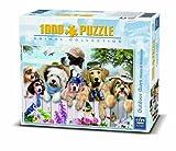 King 1000 Piece Dogs Puppy Birds & Butterlies Jigsaw Puzzle