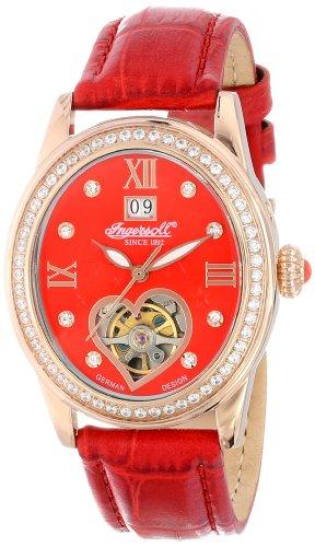De las mujeres de Ingersoll IN5011RRD Punca de Visualización analógico automático de viento auto de color rojo reloj de pulsera