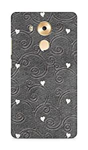 Amez designer printed 3d premium high quality back case cover for Huawei Mate 8 (hearts embroiderry)