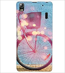 PrintDhaba Tyre Design D-3250 Back Case Cover for LENOVO A7000 (Multi-Coloured)